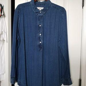Denim blue Ann Taylor Loft tunic